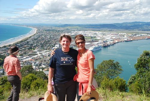 Kath James and Julie Kleve at the top of Mt. Maunganui 2