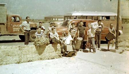 Boy Scouts Fly DC-3 to Ras el Mishab circa 1954