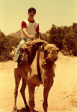 Camelman Riding his Camel in Al-Hassa KSA 1979