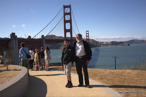 Iqbal Khan at the Golden Gate Bridge