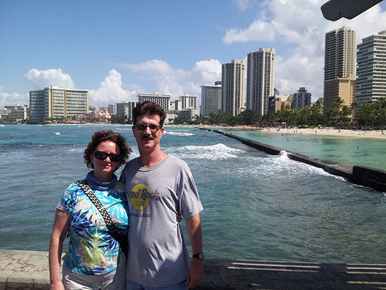 Fred and Barb - Waikiki Beach