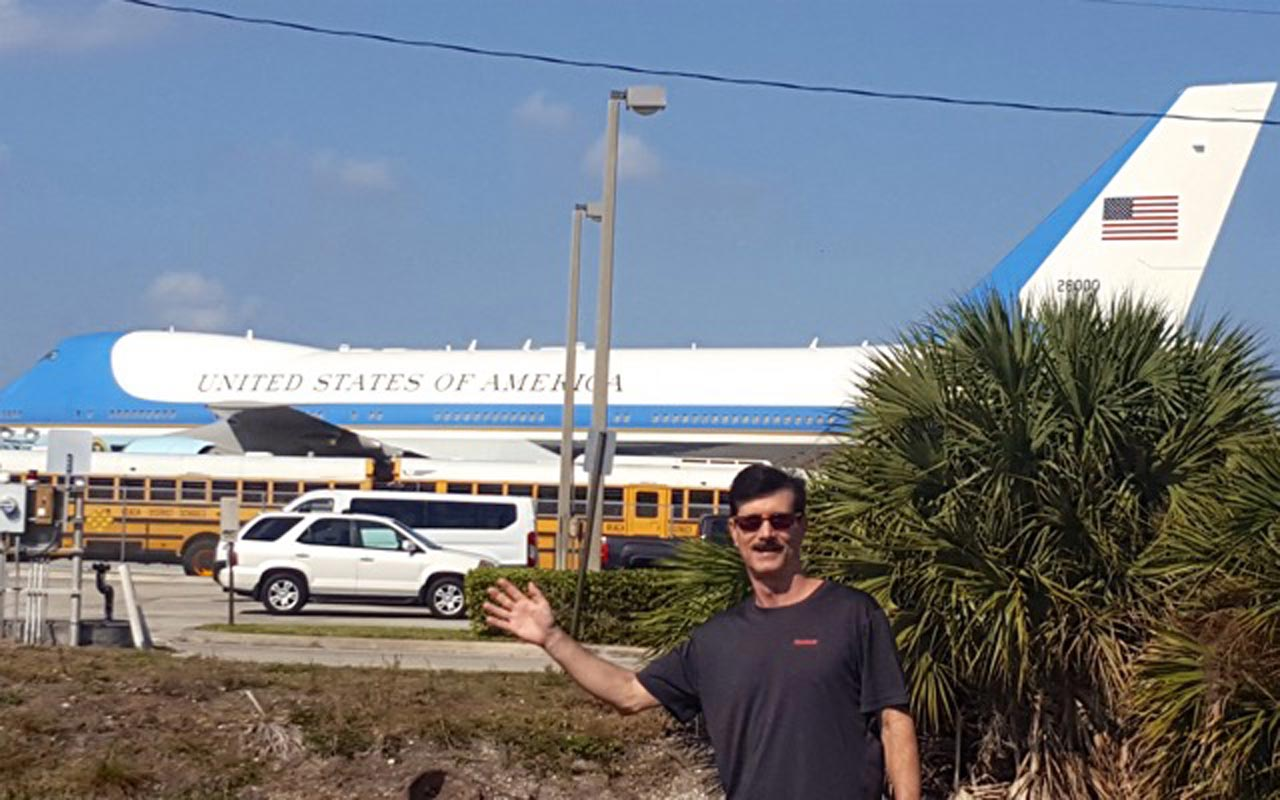 Fred Bobb and Air Force One at Palm Beach International Airport