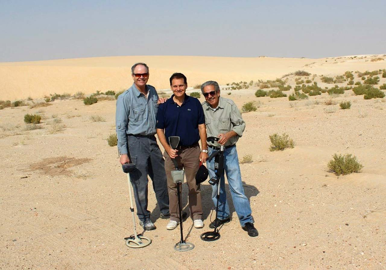 Metal Detectorists Jim Anderson, George Potter and Faisal Alzamil