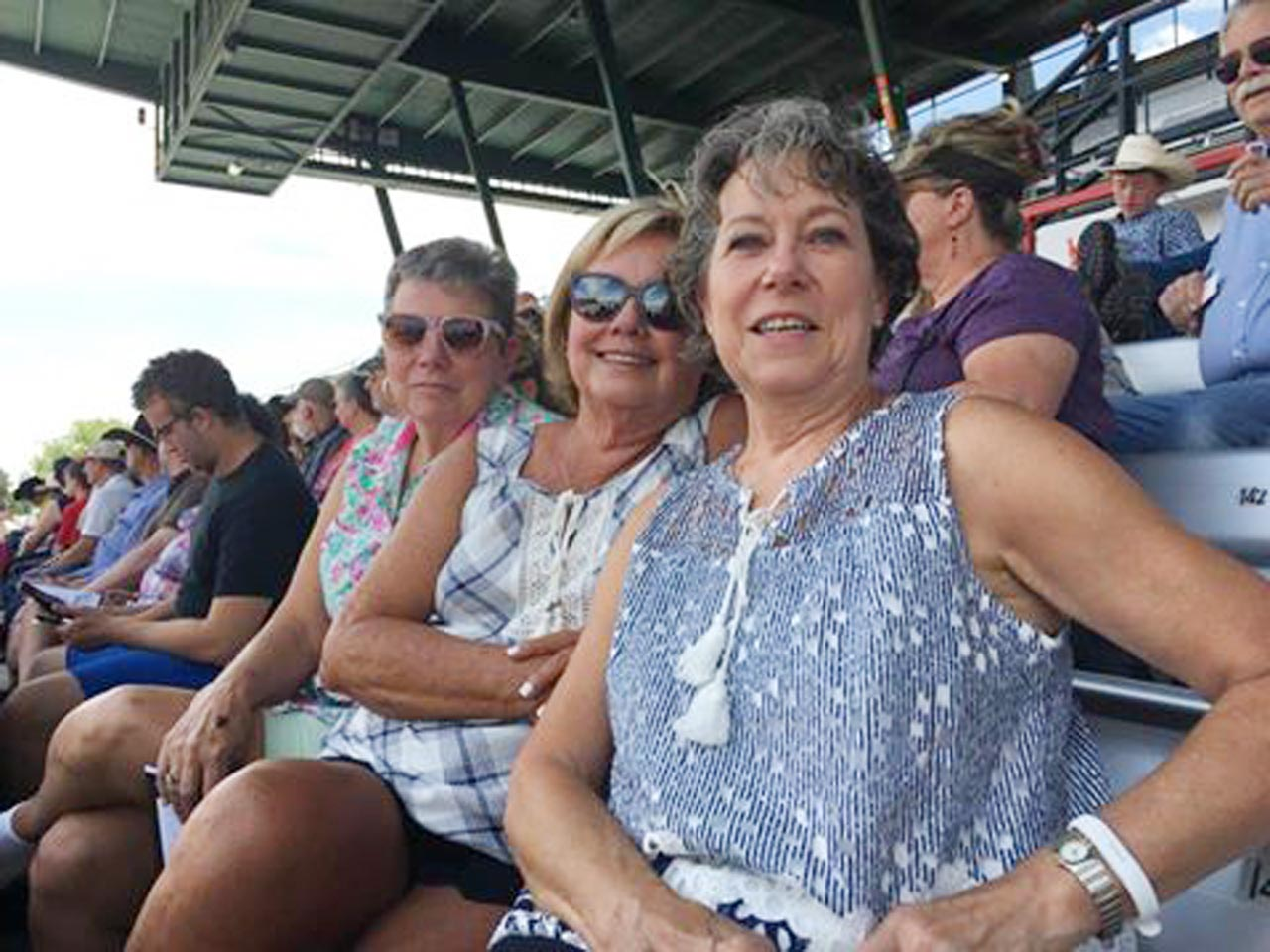 Mahala Brixey, Sheila Stevens and Mary Wells at Cheyenne Frontier Days, Cheyenne, Wyoming.