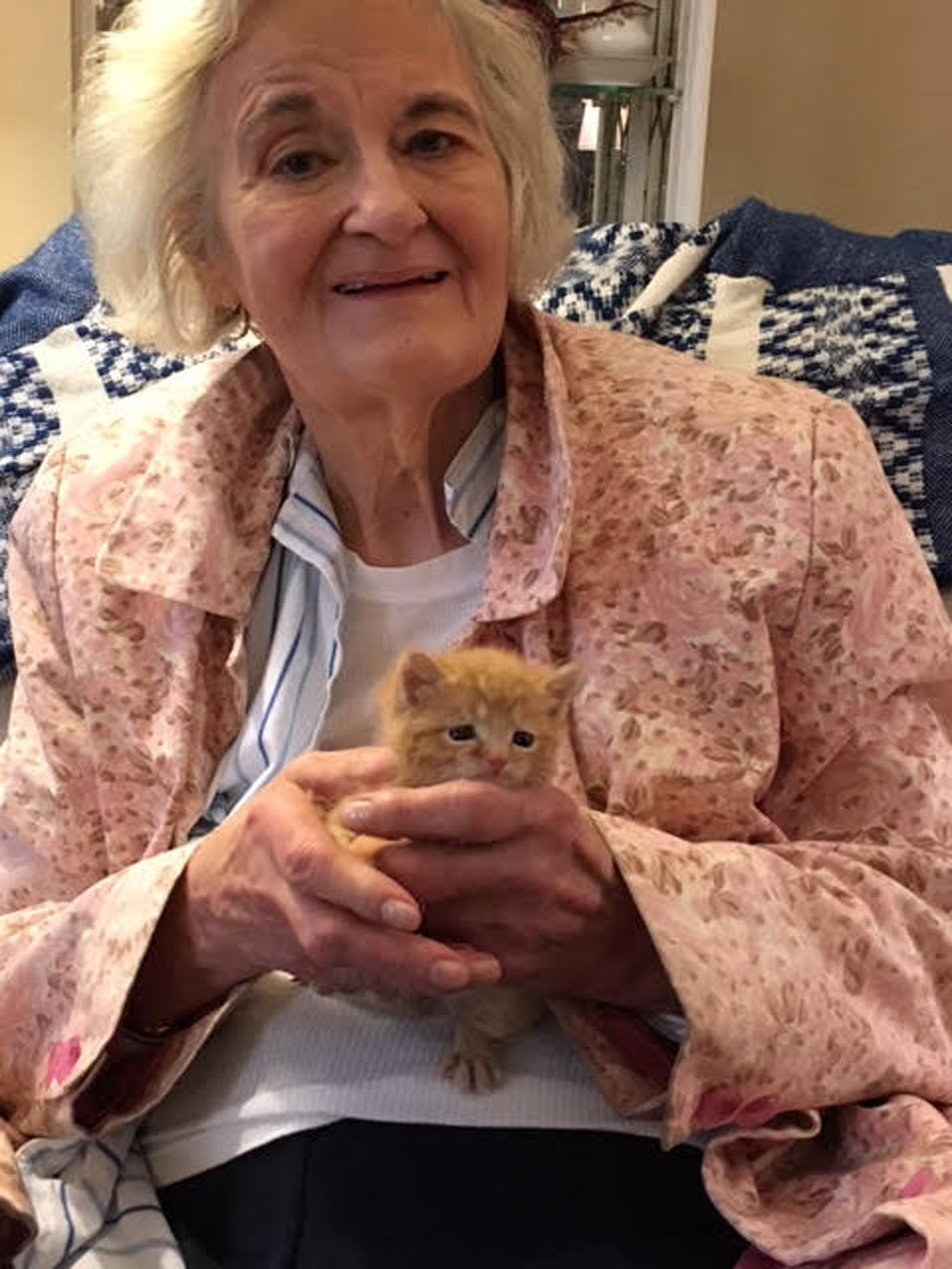 Barbara (Barbie) Homolka with her kitten companion