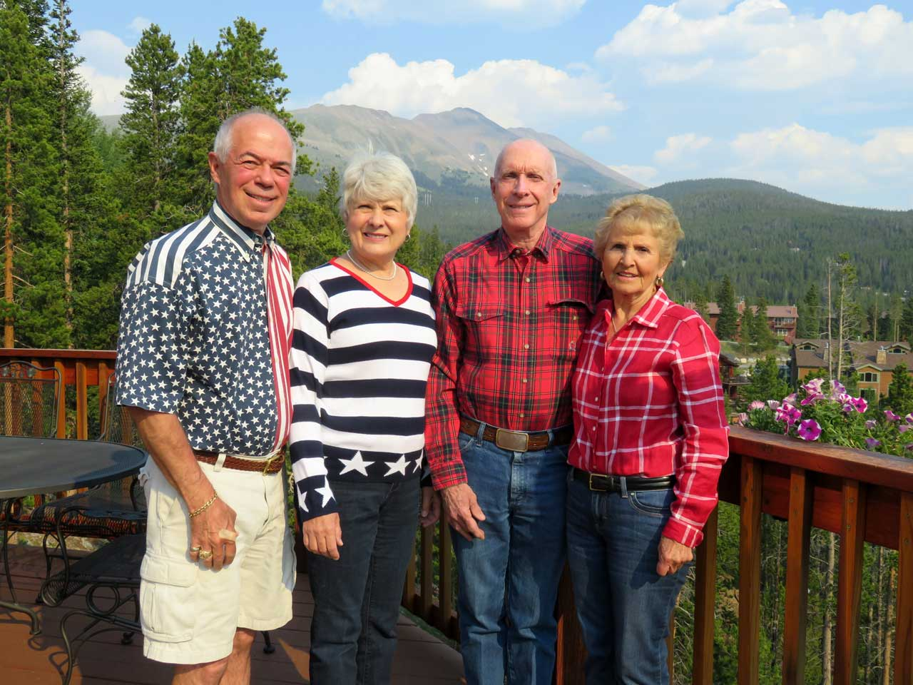 Schuyler and Phyllis Stuckey at John and Violeta Powell's in Breckenridge, CO