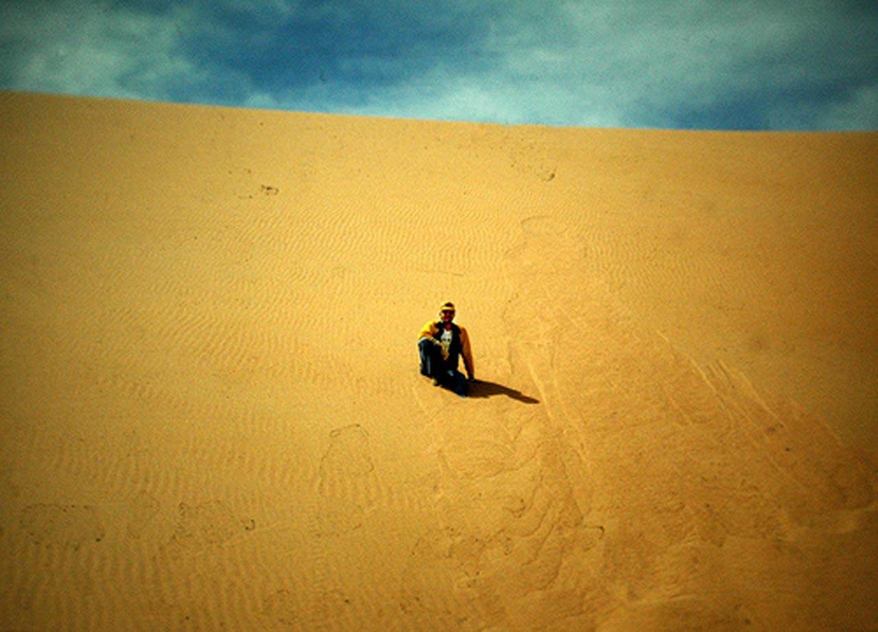 Sledding in the Rub' al Khali