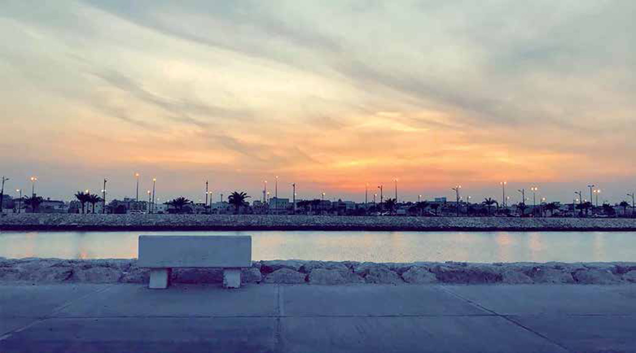 Ahmed M. Awad captured this photo of the Qatif Corniche earlier this spring while walking with his family along the scenic area. Courtesy of The Arabian Sun.
