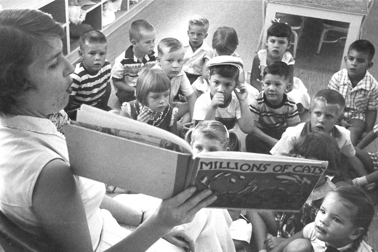 Reading Time at Dhahran Elementary School in 1957