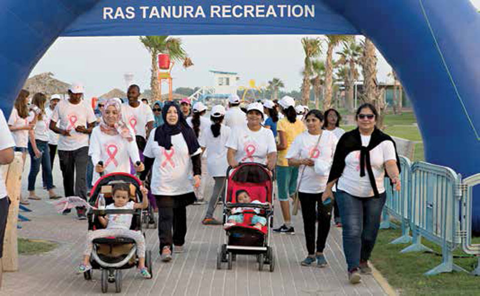 Walking for Cancer Awareness in Ras Tanura