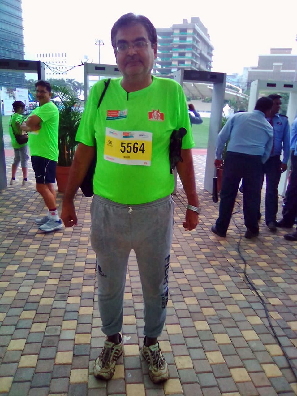 Aramco Brat, Mihir Manek, at the IDBI Federal Life Insurance Mumbai half-marathon on August 25, 2019.