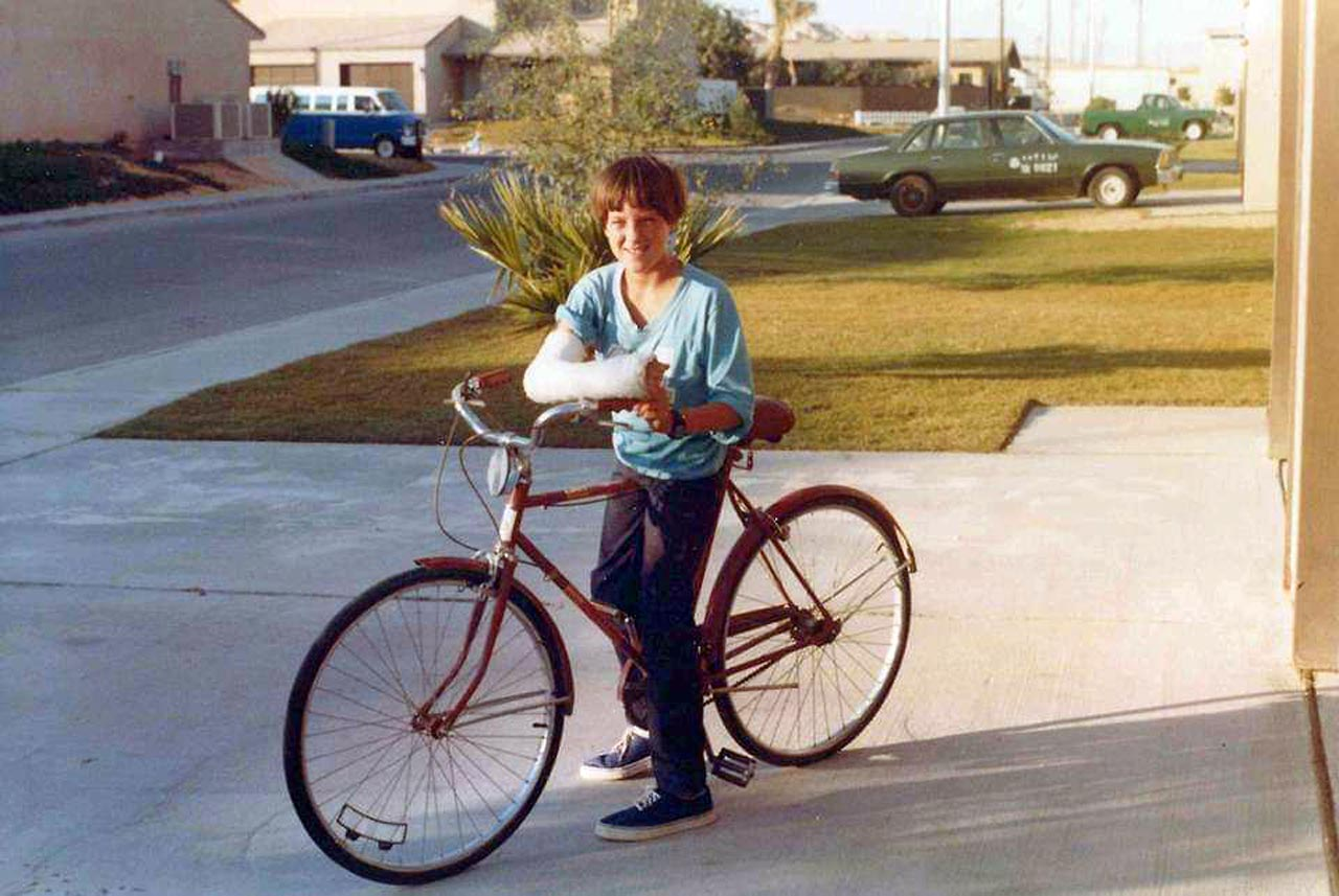 "Marshall Odom, 'Udhailiyah '80-'87 - ""I flipped over the handlebars on that bike after hitting a curb behind the racquetball court."""
