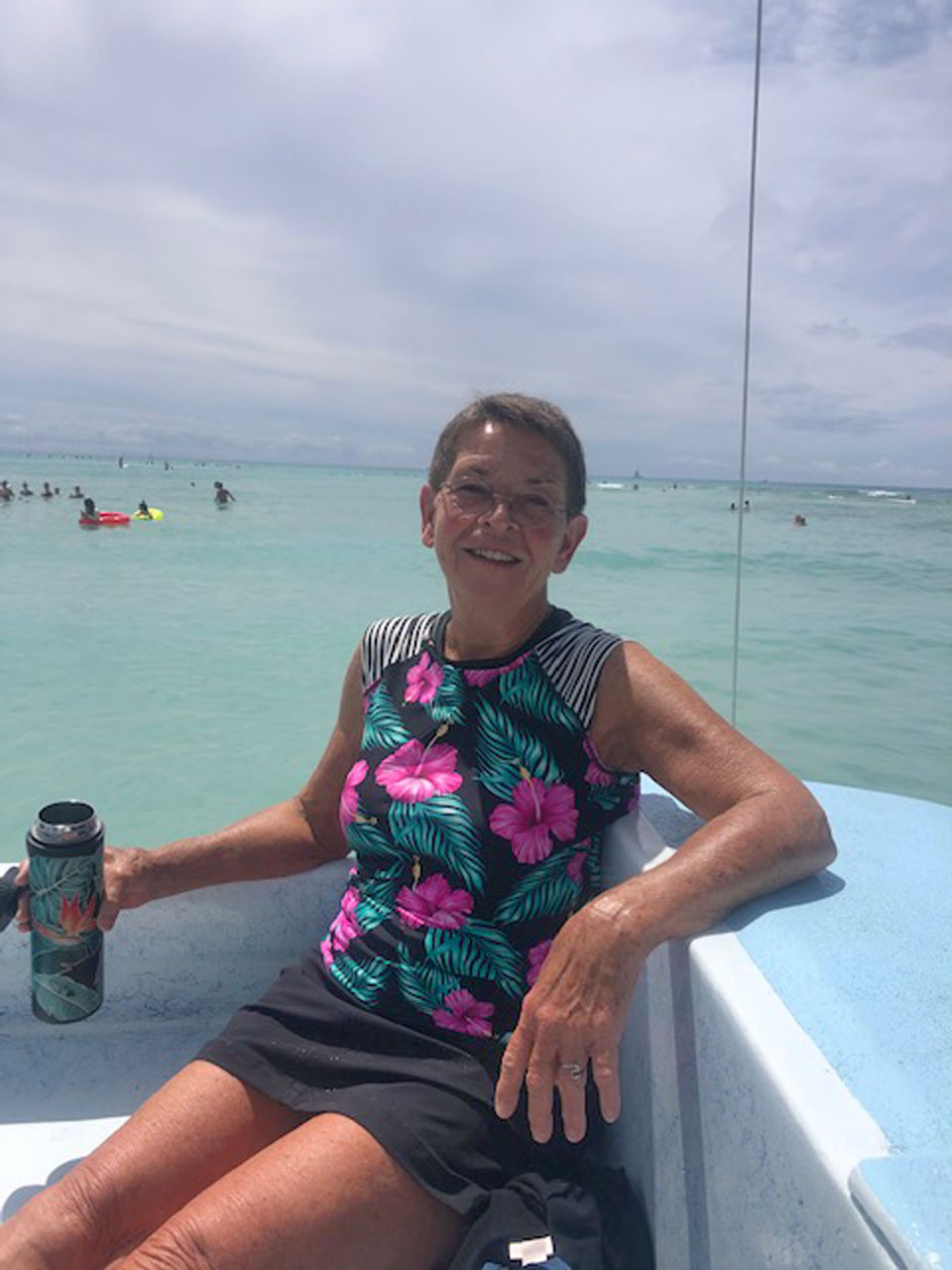 Pam Prescott Catamaraning in Waikiki