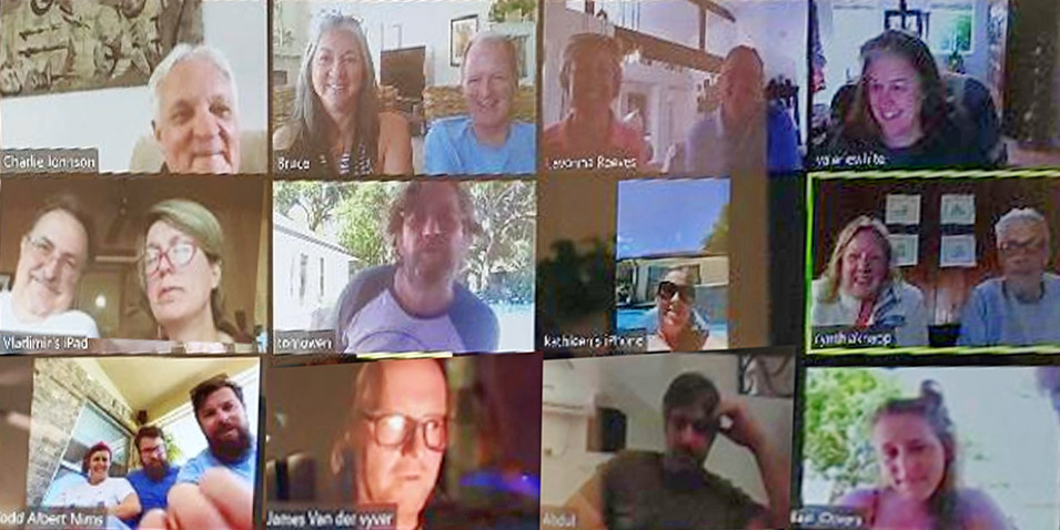 Aramcons Connect through Weekly ZOOM Chat