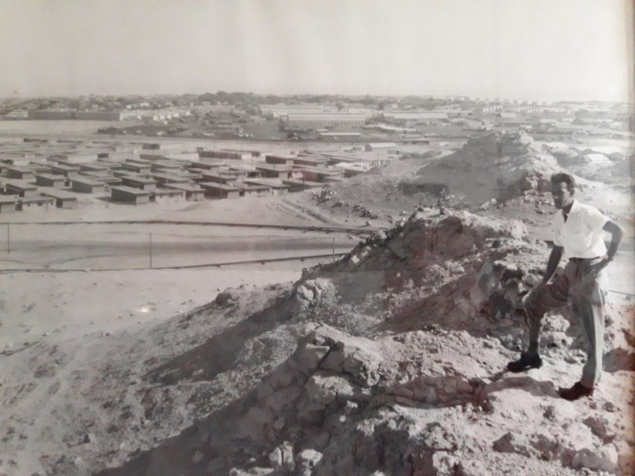 Willy Timmermans,  employee no. 175009, overlooking Dhahran in spring 1953.