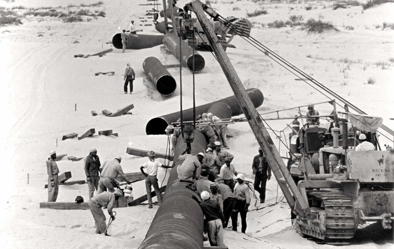 A Long Pipeline into the Desert