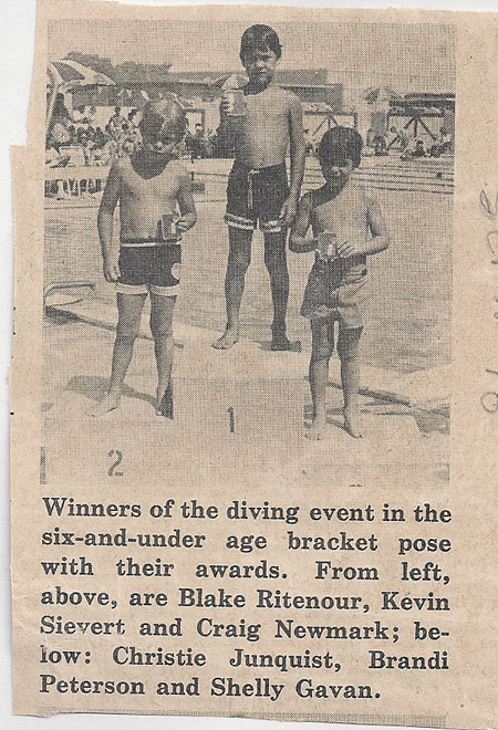 Kevin Sievert takes First Place in Dhahran Diving Competition