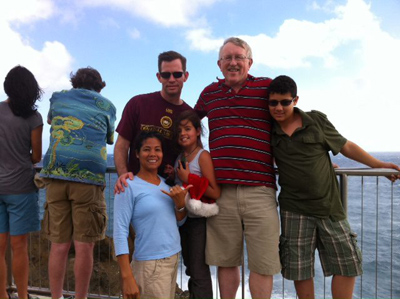 Mark Ken Swayne, son Brad and family