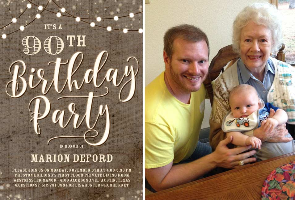 Happy 90th Birthday to Marion Rich DeFord