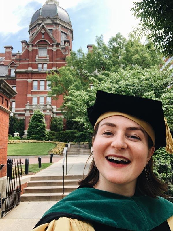 Leah Weston Graduates from Johns Hopkins Medical School