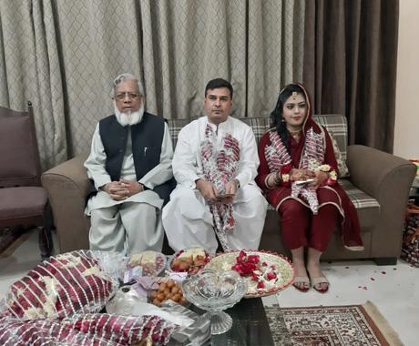 Kamran Ahmed Khan Weds Bushra Irshad