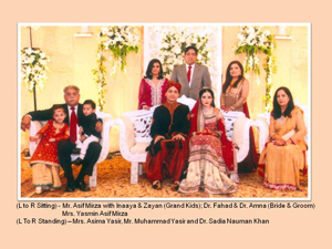 Amna Asif Mirza Weds Fahad Bin Zulfiqar