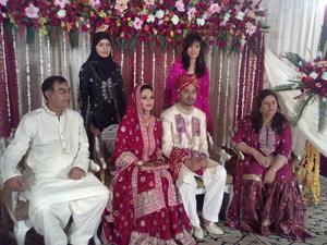 raheel rashid ansari weds iffat moin in karachi pakistan