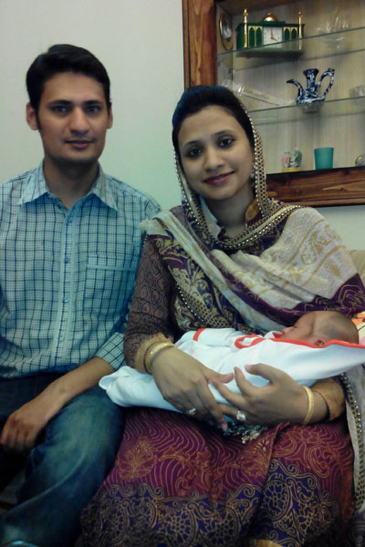 Mr & Mrs. Shahzad Salim with their daughter Baby Muntaha