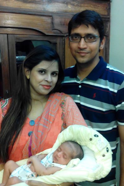 Mr.& Mrs Faraz Salim with their son Master Muhammad Hashir Faraz