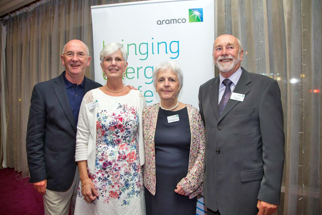 Sue & Mike Higgins and Jimmy & Veronica Anderson, event organisers.