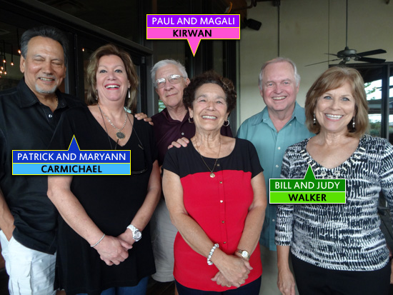 From left to right: Patrick and Maryann Carmichael, Paul and Magali Kirwan, Bill and Judy Walker