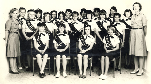 Dhahran Girl Scouts from late 1950s