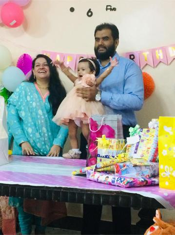 First Happy Birthday of Baby Ayra Bilal Khan
