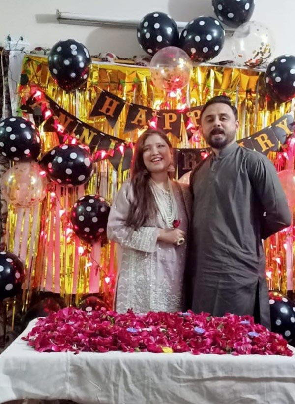 First Wedding Anniversary of Shabeel and Sahrish
