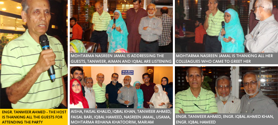Engr. Tanweer Ahmed Organized A Surprise Dinner Party
