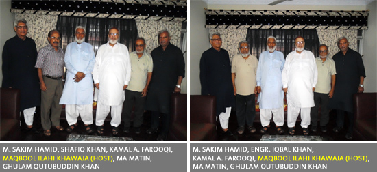 SAEEA-Friendly Visit to Maqbool Ilahi Khawaja's Residence