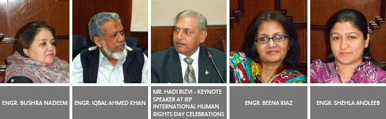 Mr. Hadi Rizvi Guest Speaker at 'International Human Rights Day' Celebrations at IEP KC