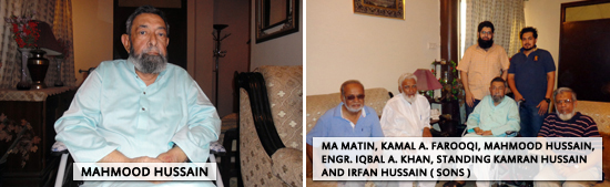 MAM, KAF, IAK, SAEEA - Mahmood Hussain, Standing Kamean Hussain and Irfan Hussain