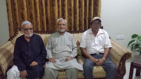 SAEEA Visits Ailing Member -Syed Shabbar Hassan Abidi