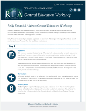 Reilly Financial Advisors General Education Workshop