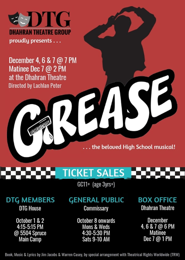 Dhahran Theatre Group Presents Grease