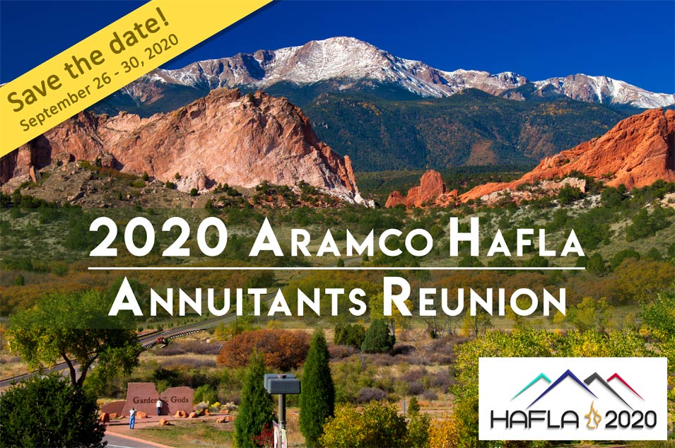 Save the Date - 2020 Aramco Annuitants Reunion