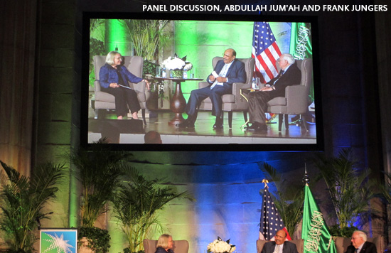 Panel Discussion, Abdullah Jum'ah and Frank Jungers