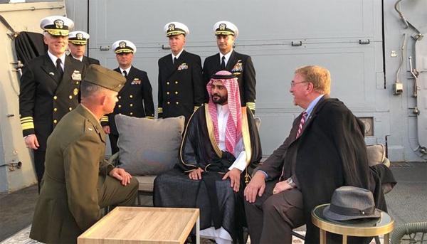 Saudi Arabia and US reenact Roosevelt meeting with King Abdul Aziz