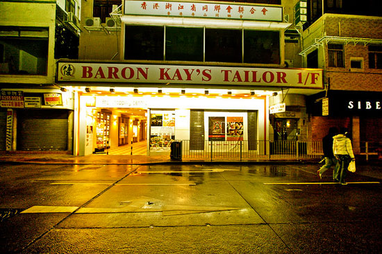 View of entrance to Baron Kay's Tailor Mody Road location