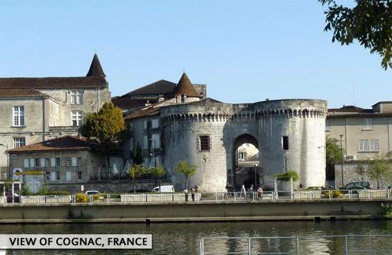 View of Cognac, France