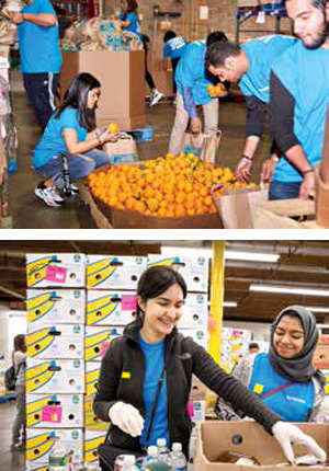 Aramco Students Volunteer in U.S. Communities