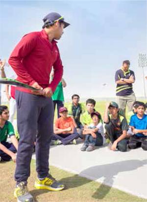 International Cricket Stars Visit Dhahran