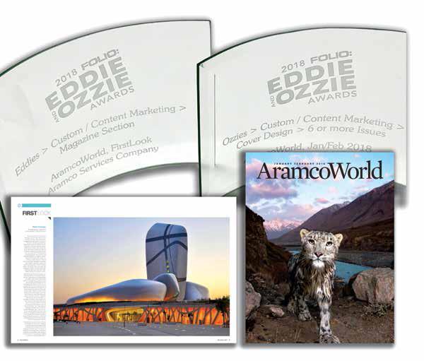 AramcoWorld Team Wins 13 Awards at 2018 Folio: Eddie and Ozzie Awards