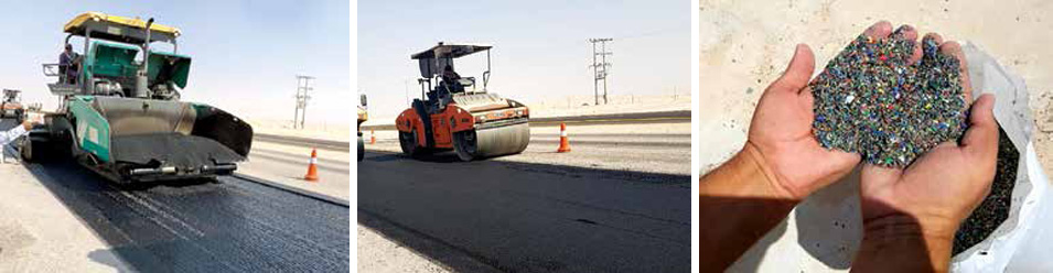 Promoting a Circular Economy: Saudi Aramco Deploys Recycled Plastic for Road Construction